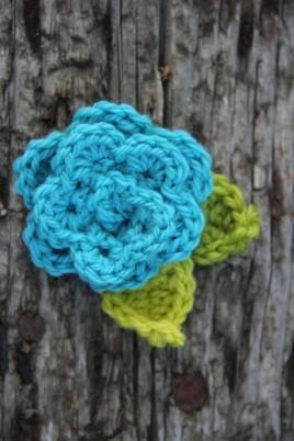 beginning crochet class flower project summer 2013