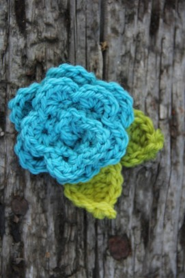 beginning crochet class flower project summer 2013
