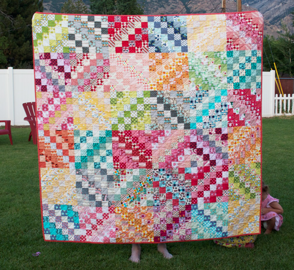 Holly's Scrappy Trip Around The World Quilt
