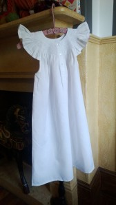 harmonyprovo - White Smocked Nightgowns Size 8