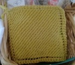 beginning knitting spa cloth