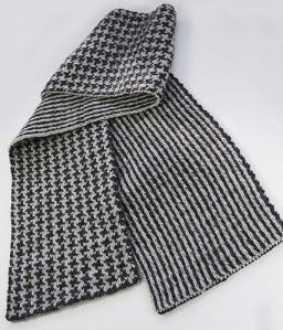 double knit scarf by melissa leapman