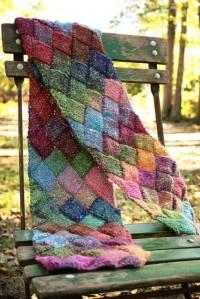 noro entrelac scarf by allison locicero