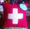 granny square cross pillow