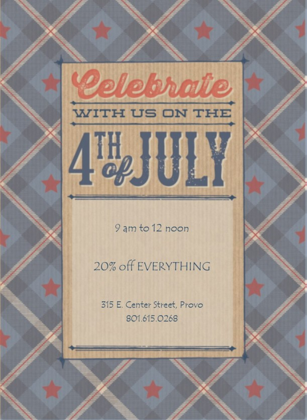 4th of july invite
