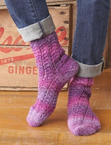 Twisting Lace Socks - Patons