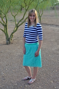 Ashley Asay homemade skirt