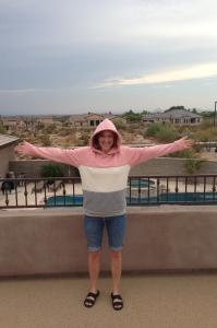 Ashley Asay homemade sweatshirt
