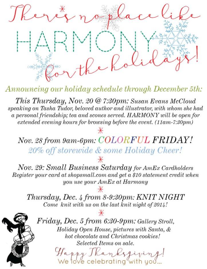 harmony provo thanksgiving 2014