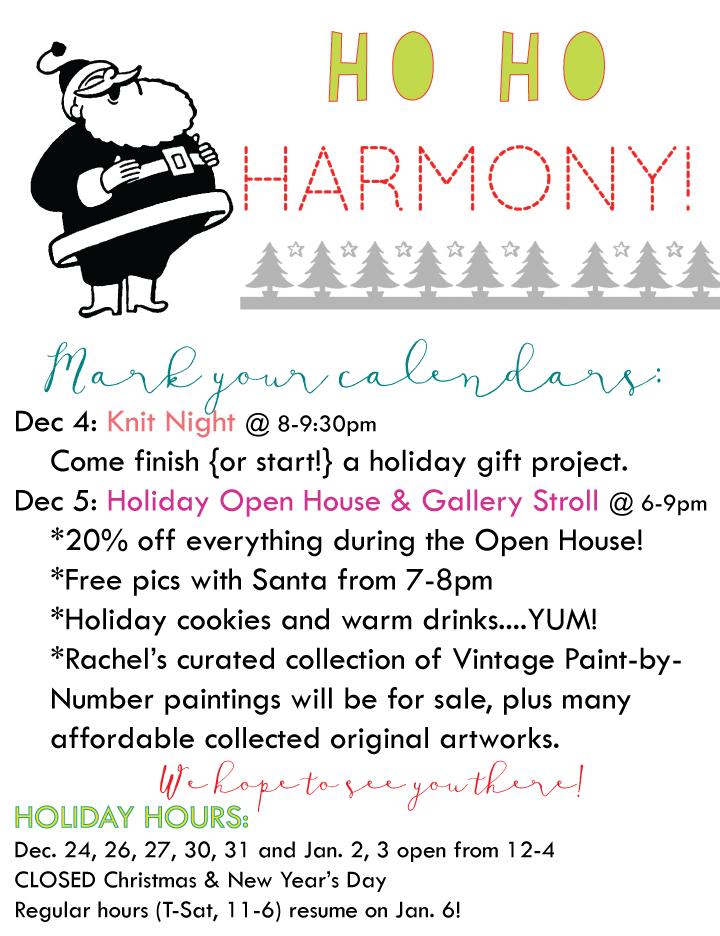 harmony holiday openhouse 2014