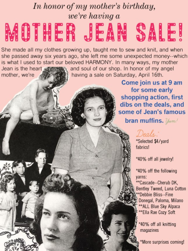 Mother Jean Sale 2016